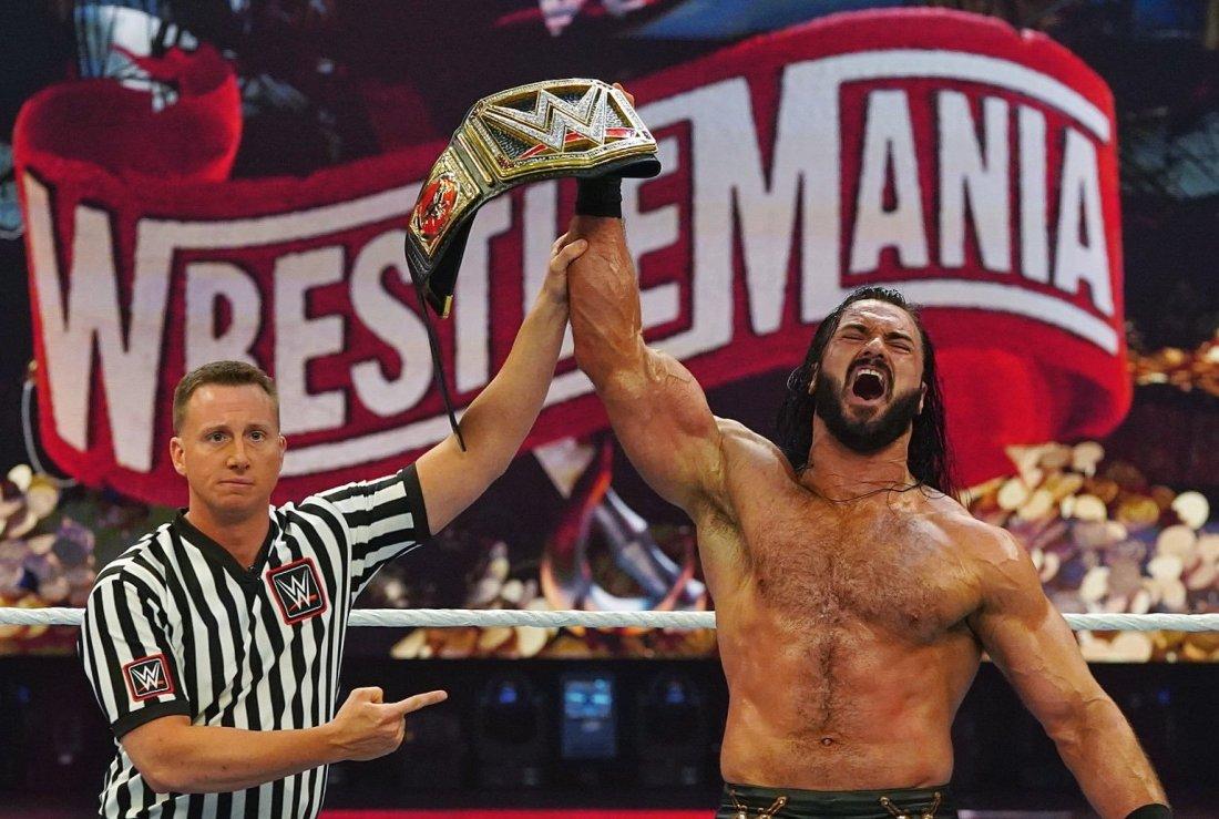 Drew WWE title